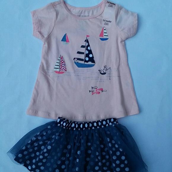 f59aa73cc2780 First Impressions Matching Sets | Baby Girls 2pc Shirt And Tutu ...